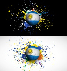 argentina flag with soccer ball dash on colorful vector image