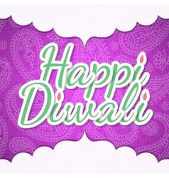 Happy Diwali design vector image