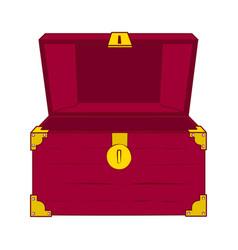 open empty treasure chest vector image vector image