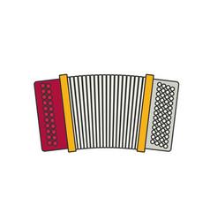 accordion flat vector image