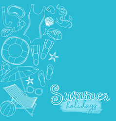 beach summer holidays vector image