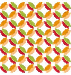colored circle seamless pattern geometry abstract vector image vector image