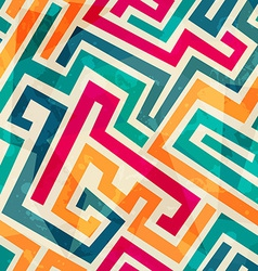 colored lines seamless pattern with grunge effect vector image