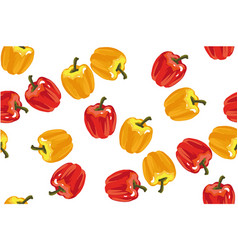 sweet pepper seamless pattern on white vector image vector image