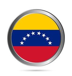 Venezuela flag button vector image