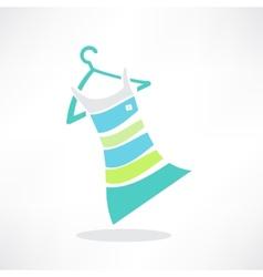 Woman clothing icons set shopping elements flat vector image