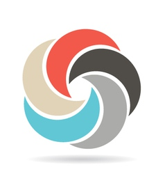 Circle infographic swirl vector image
