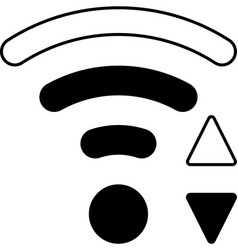 Mobile smart phone wifi icon vector