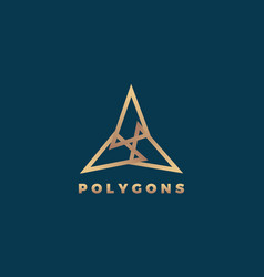 polygons abstract geometry minimal sign vector image vector image