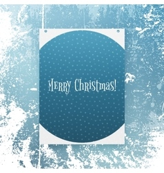 Realistic Christmas Banner with Snowflakes vector image
