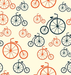Seamless Pattern with Retro Bicycle Background vector image vector image