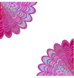 abstract floral mandala background - digital art vector image vector image
