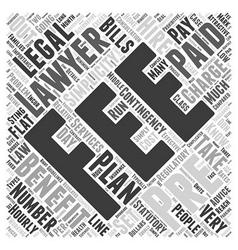 Benefits of PrePaid Legal Plans Word Cloud Concept vector image vector image