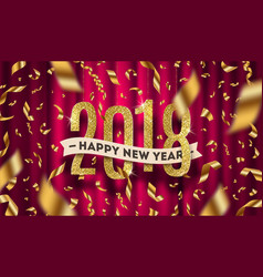 happy new year 2018 greeting vector image