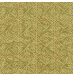 Seamless vintage wallpaper floral pattern retro vector image