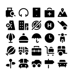 Travel Icons 6 vector image vector image