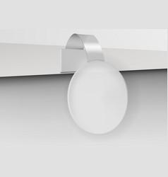 3d blank advertising plastic shelf sale wobbler vector image