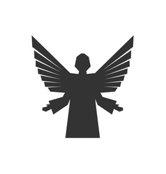 Angel god with wings vector