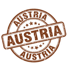 Austria brown grunge round vintage rubber stamp vector