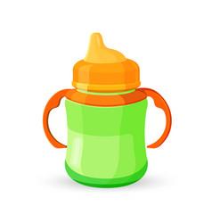Bacup bottle green orange translucent drinking vector