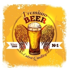Beer Sketch Label vector image