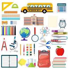 big school set vector image