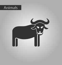 Black and white style icon bull vector