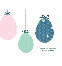 Blloming vines stripes hanging Easter eggs vector