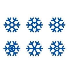 Blue snowflake set vector