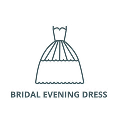 bridal evening dress line icon bridal vector image