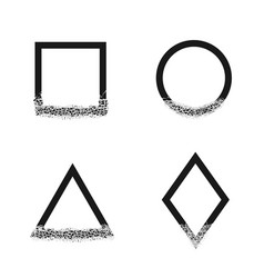 broken geometric shapes vector image