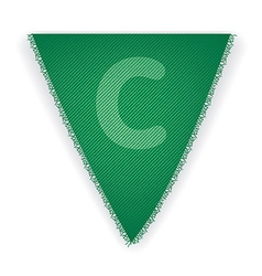 Bunting flag letter C vector
