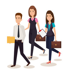 business people isometric avatars vector image