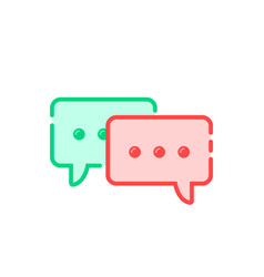 cartoon double speech bubble icon vector image