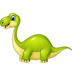 Cartoon green dinosaur isolated vector