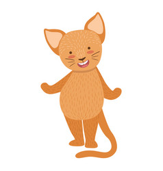 cat cute toy animal with detailed elements part of vector image