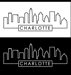 charlotte skyline linear style editable file vector image
