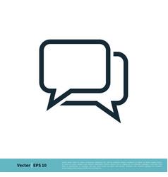 chatting dialog discuss speech bubble icon logo vector image