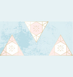 chic geometric banner pastel gold vector image