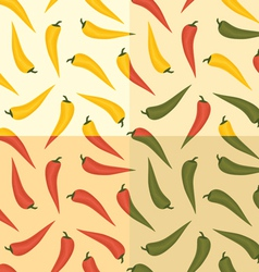 chili pattern vector image