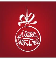 Christmas ball symbol drawn vector