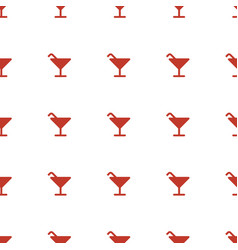 Cocktail icon pattern seamless white background vector