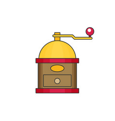 Coffee mill flat vector
