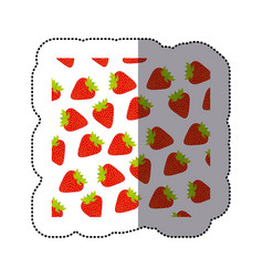 Color strawberry fruit background icon vector