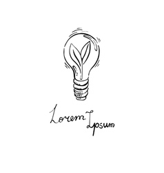 Concept with eco light bulb in doodle style vector image