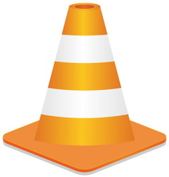 construction street cone vector image