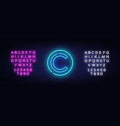 copyright neon sign copyrights design vector image