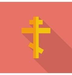 Cross single flat icon vector image vector image