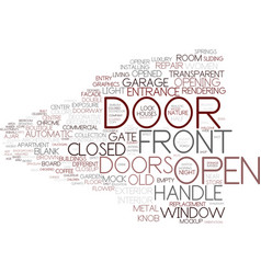 Door word cloud concept vector