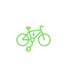 electric bike icon e-bike vector image